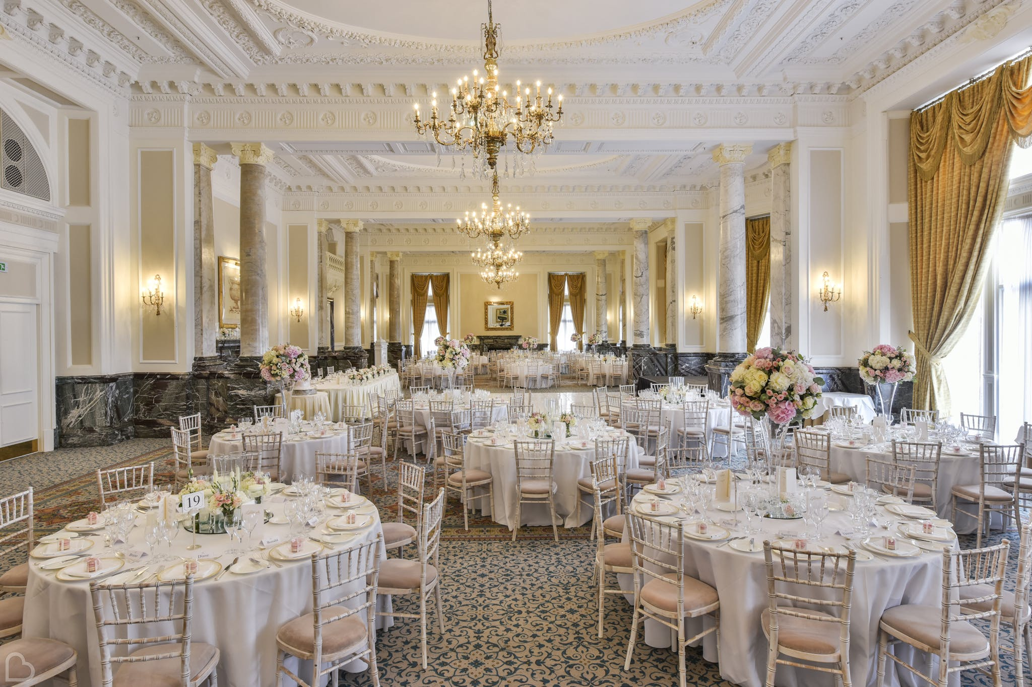 The landmark a wedding reception venue in london, ready to host a wedding lunch