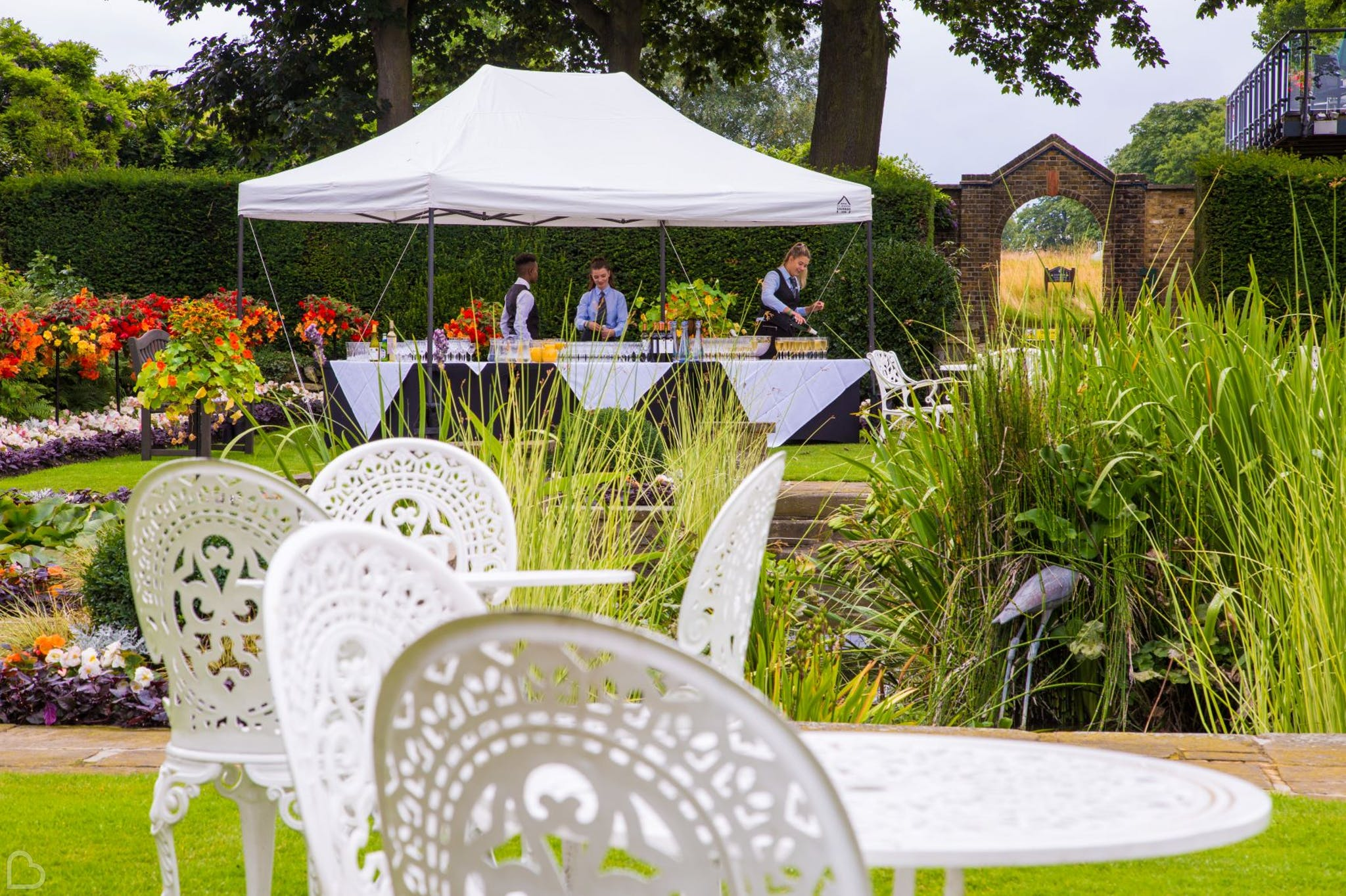 the garden at roehampton club wedding venue