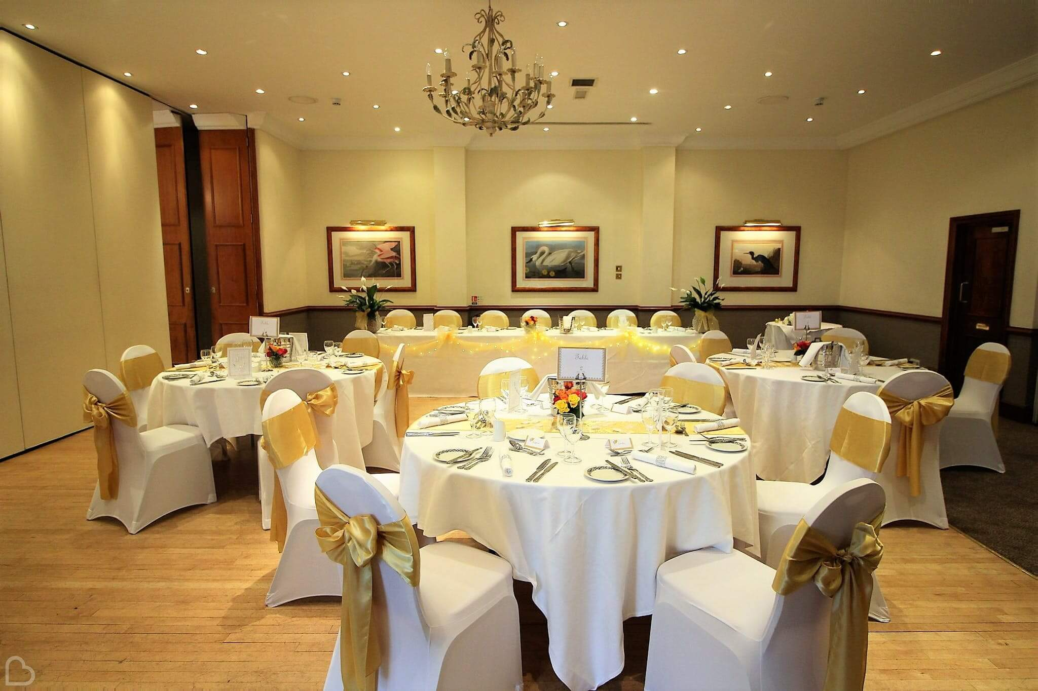 best western ship hotel tables set for a wedding meal