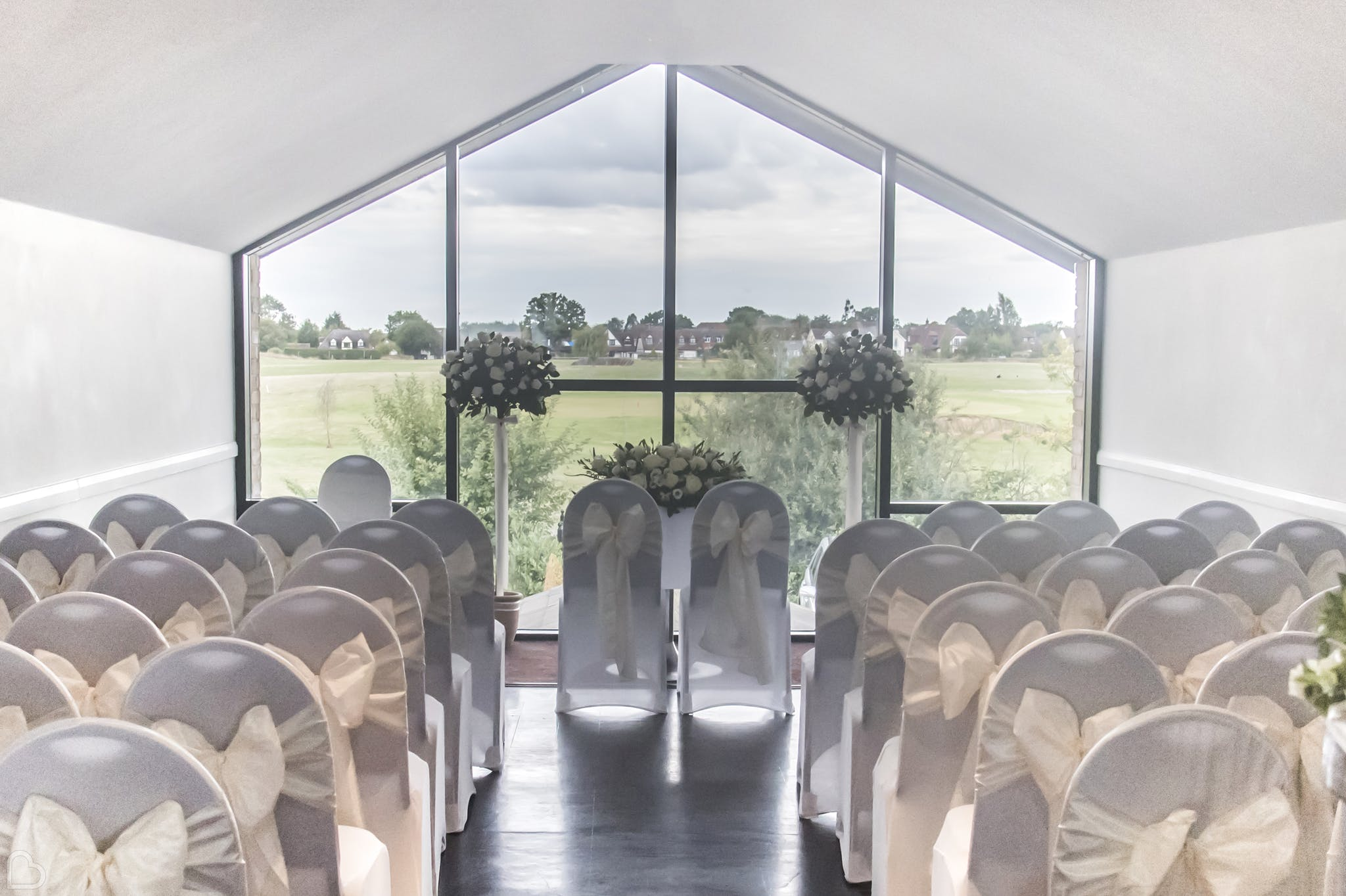 blakes wedding venue in essex set up for a ceremony