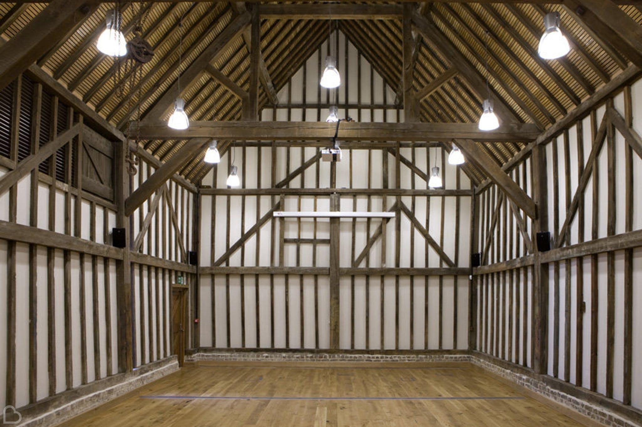 empty high house barn unusual wedding venue in essex