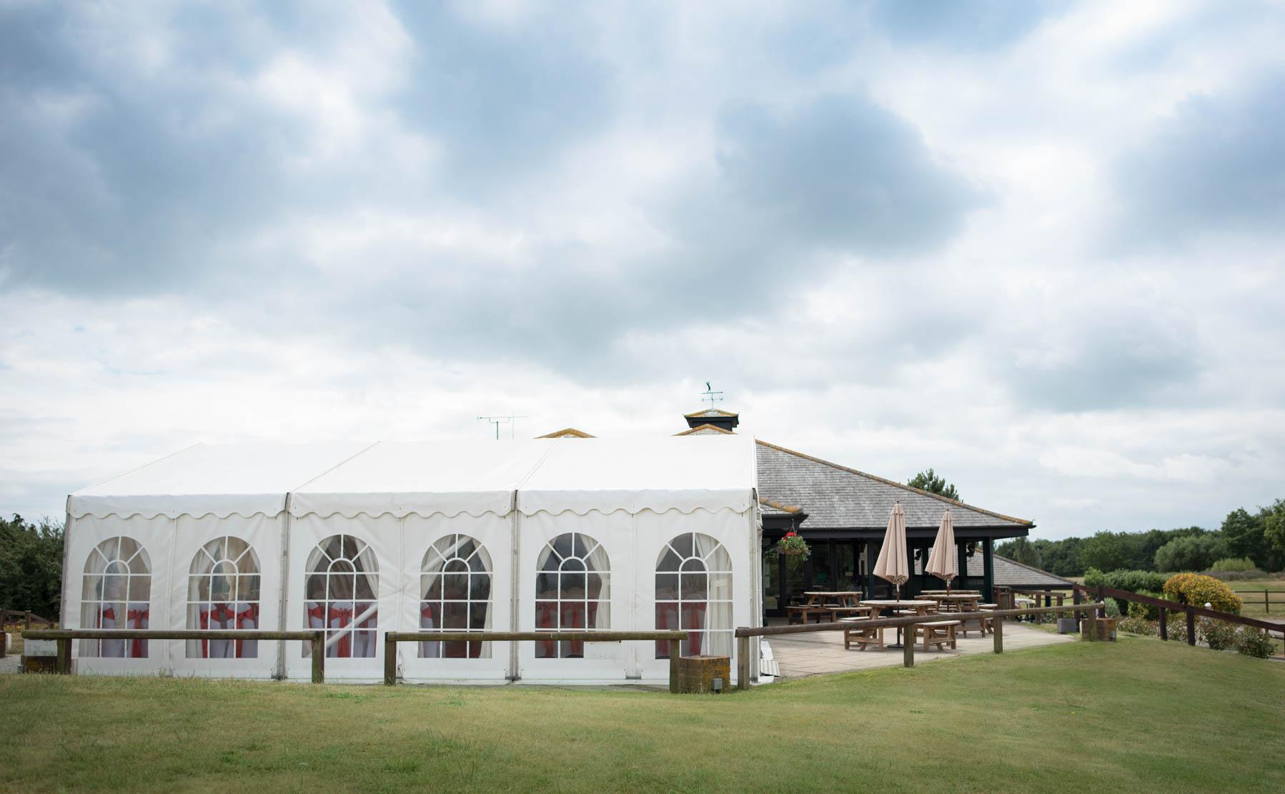 garon park golf club wedding marquee