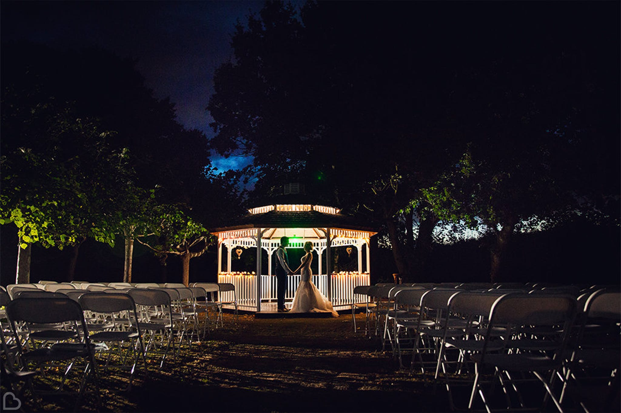 Greenwoods Hotel & Spa gazeebo at night