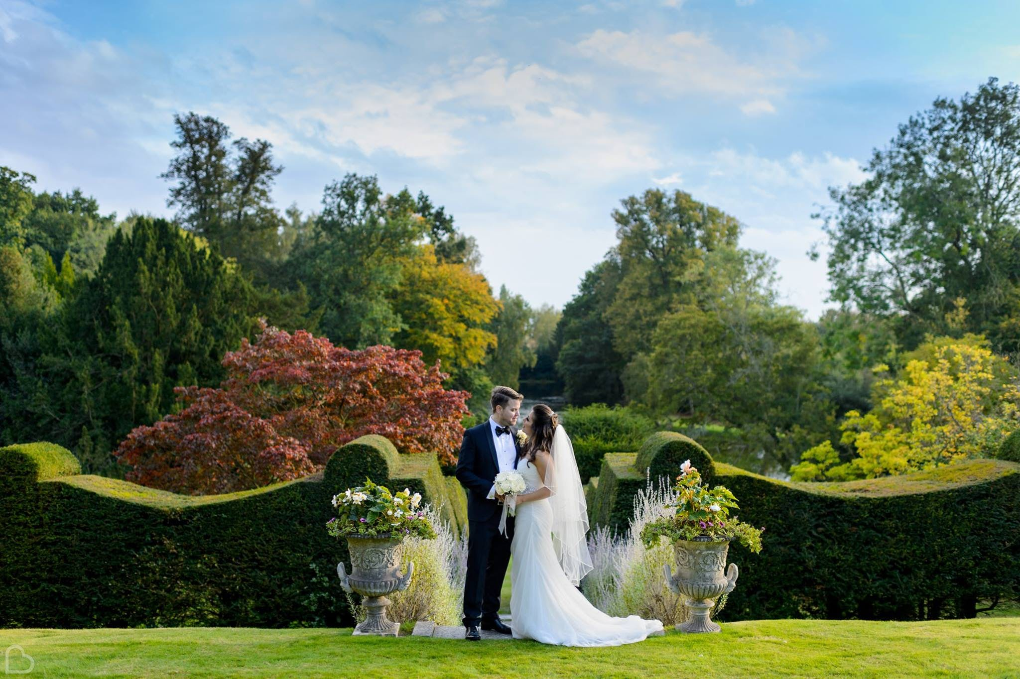 Newlyweds at Heddingham Castle