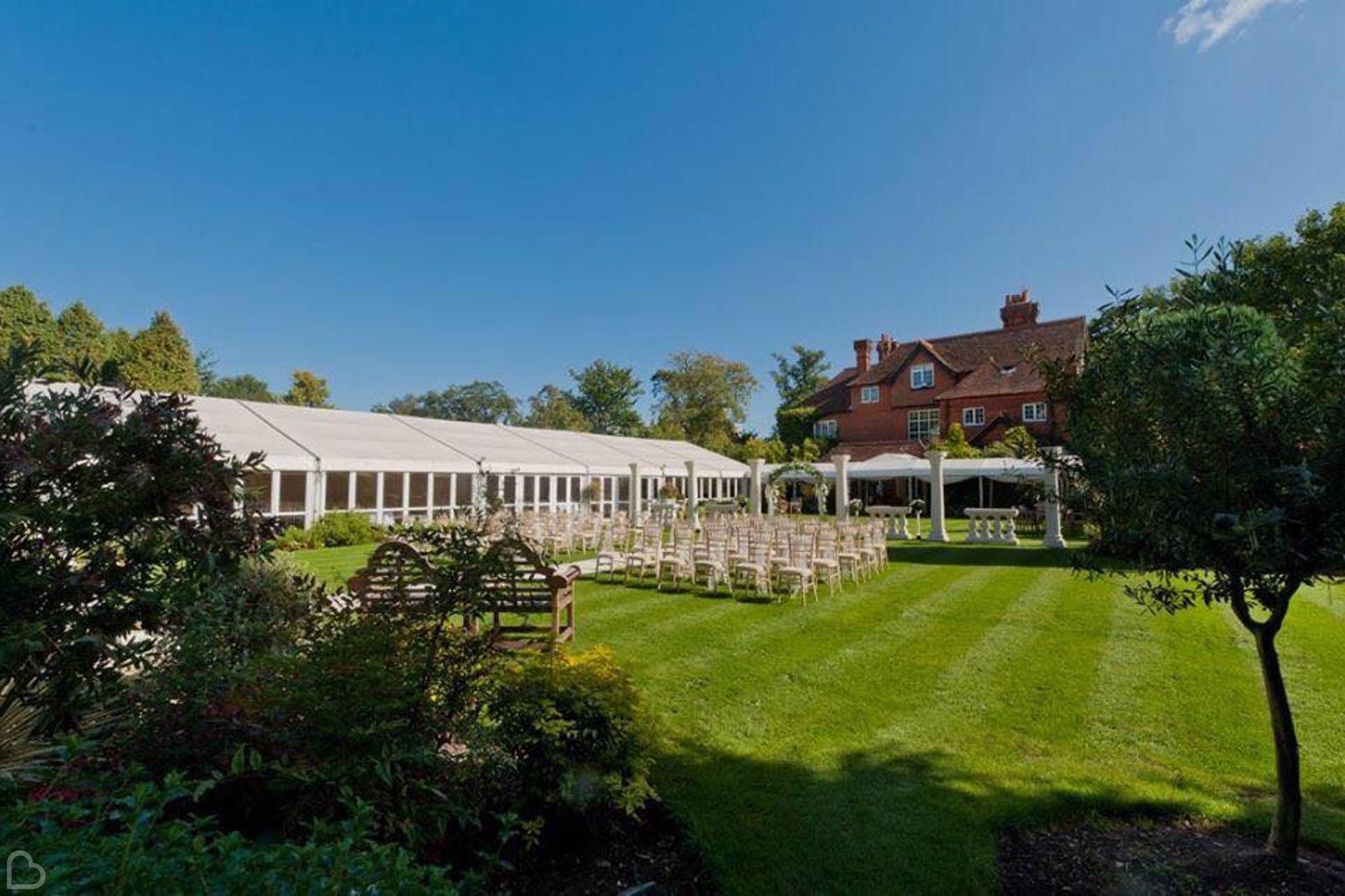 Trunkwell House set up for a wedding ceremony