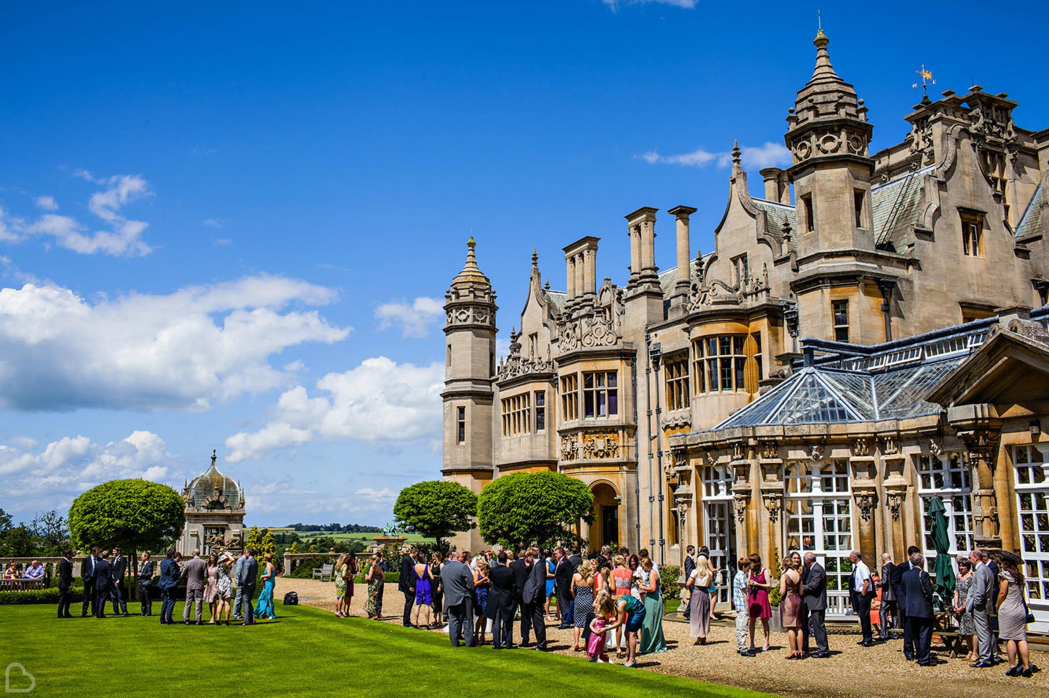 Harlaxton Manor House wedding venue.