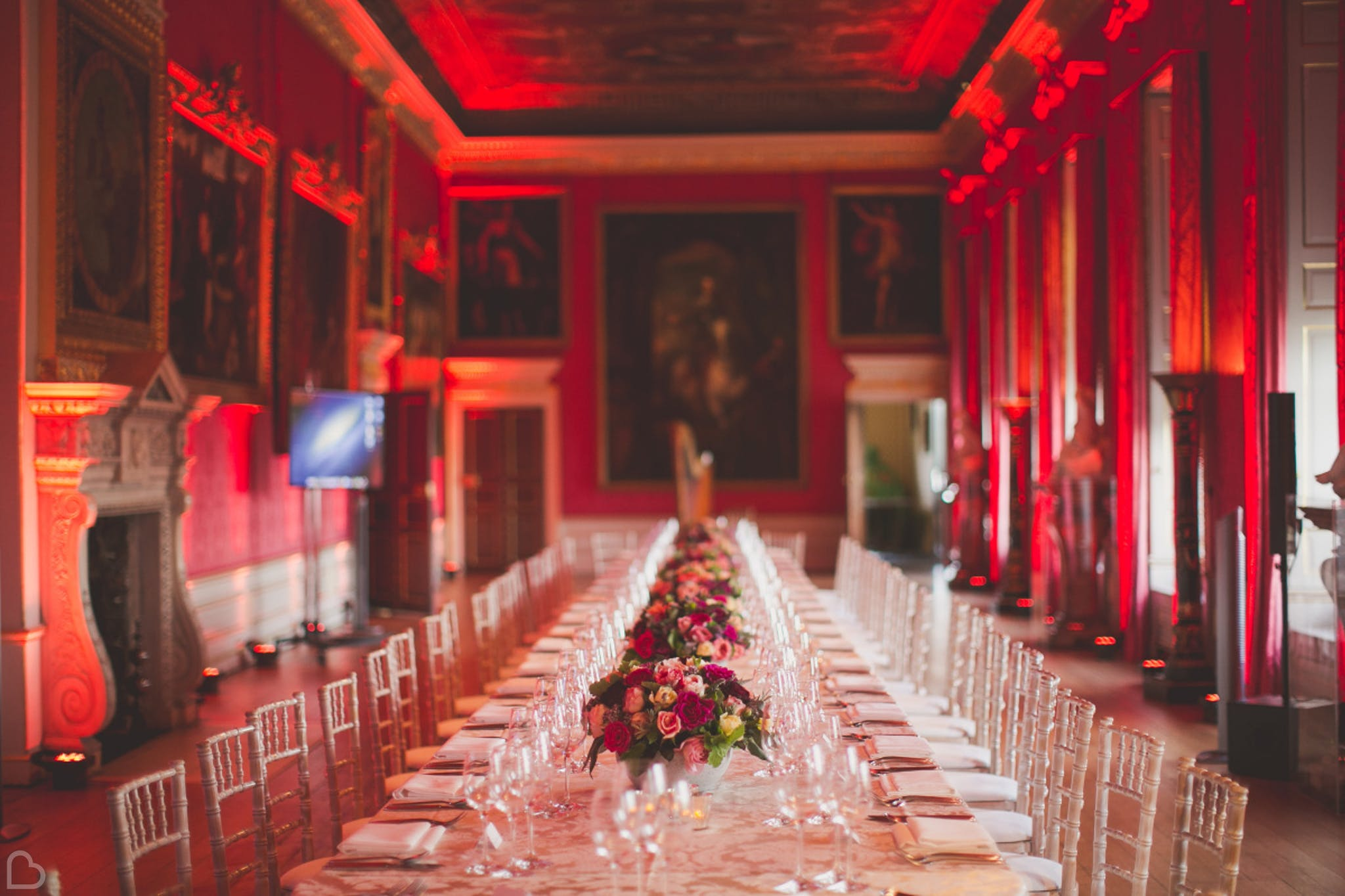 Kensington Palace dining room in London.