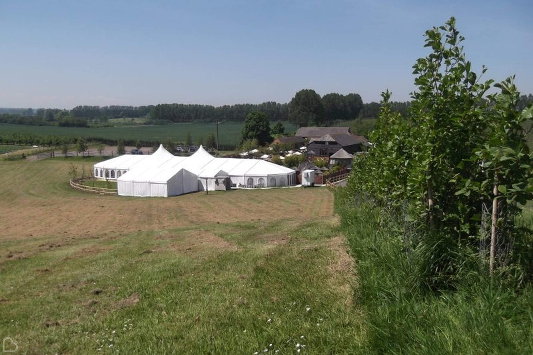 The Barnyard, an exclusive use wedding venue in Kent.