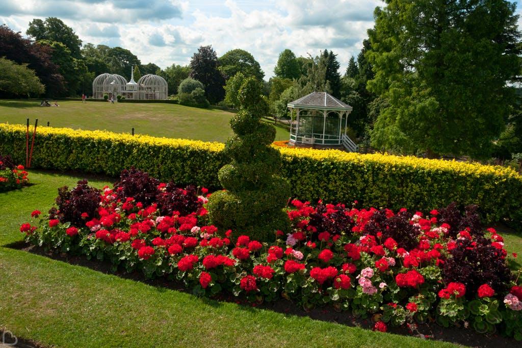 Birmingham Botanical Gardens on a beautiful sunny day.