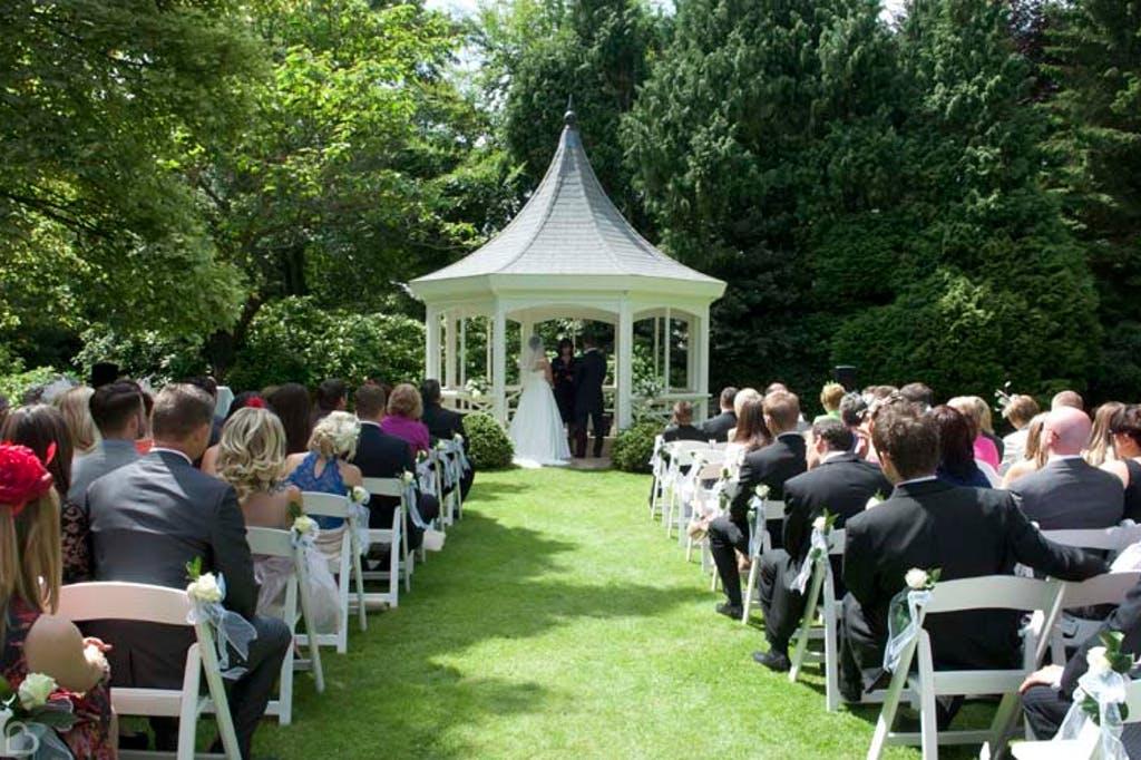 Gazeebo wedding ceremony at The Orangery in Maidstone.
