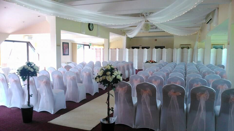Chairs set up for wedding ceremony at Langdon Hills