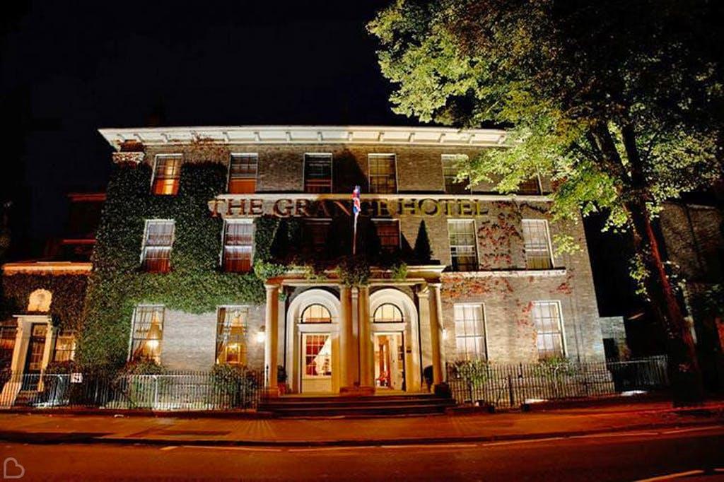 the grange hotel at night