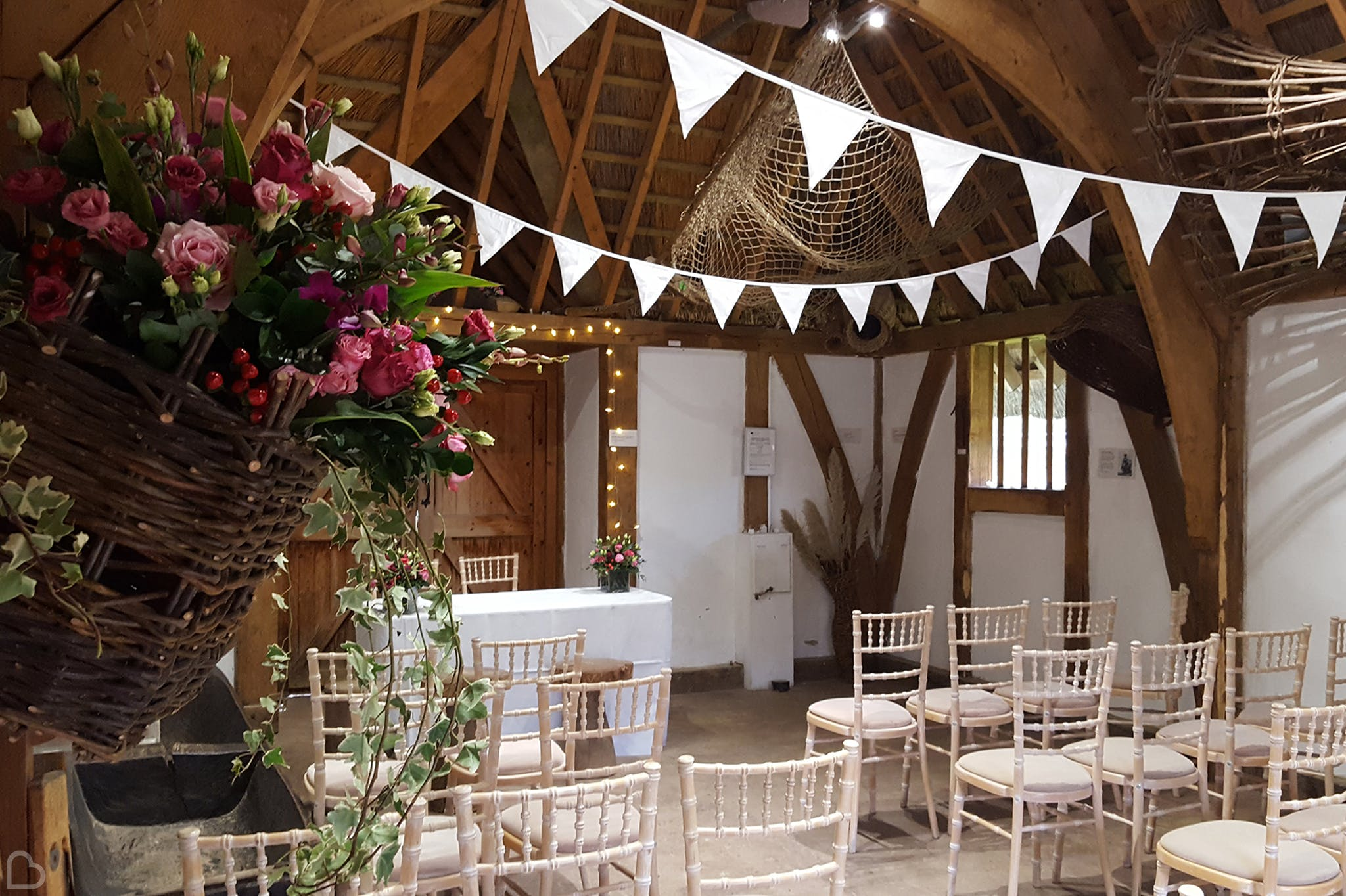 wwt london wetland centre set up for wedding ceremony.
