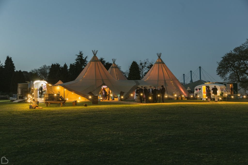 Vanstone park tents at night.