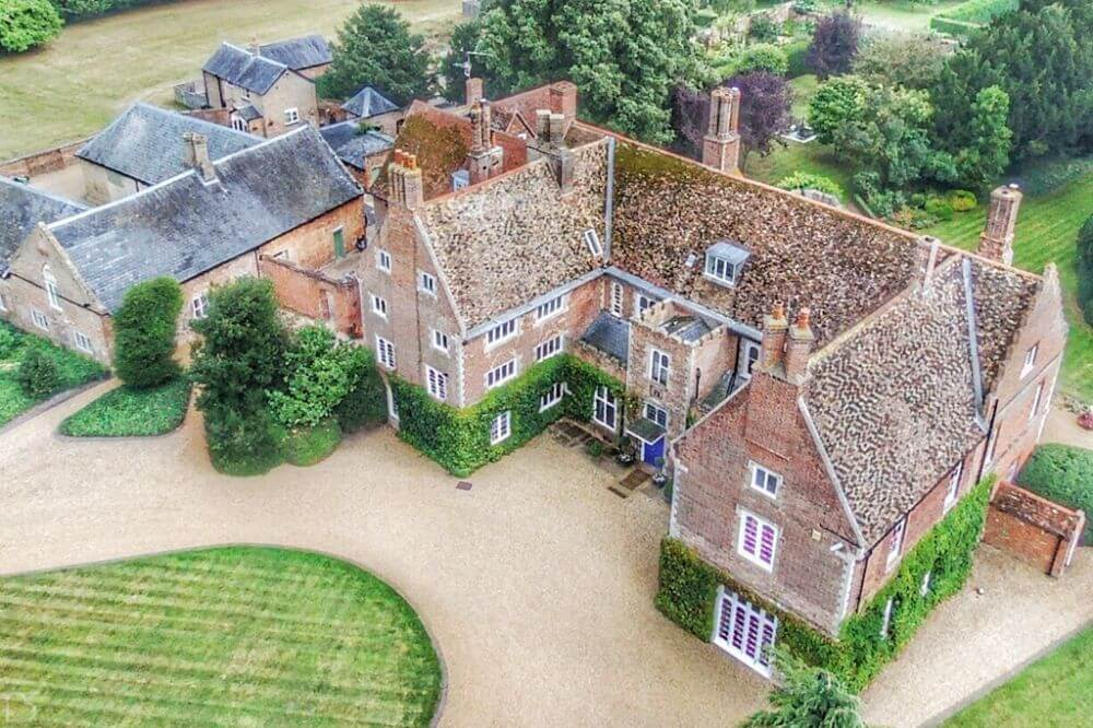 Aerial Shot of Hockwold Hall.