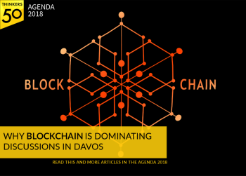 Illustration of a blockchain concept