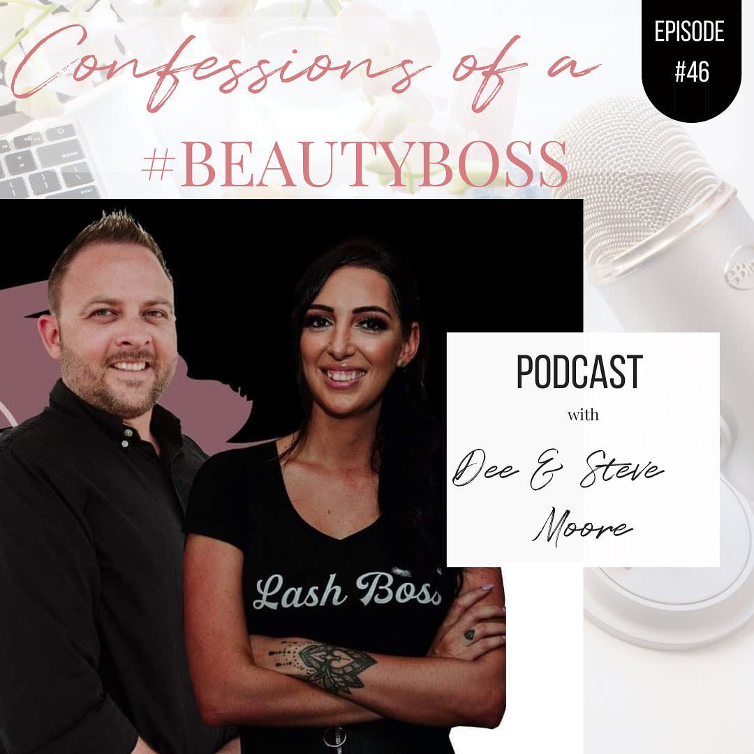 Dee and Steve Moore from Bring On Salon Success Podcast with Confessions of a Beauty Boss