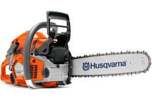 A Husqvarna chain saw