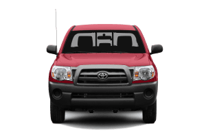 Red Toyota Tacoma truck
