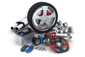 Racing tire and various performance car parts