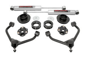 Lift kit suspension components for a Dodge Ram
