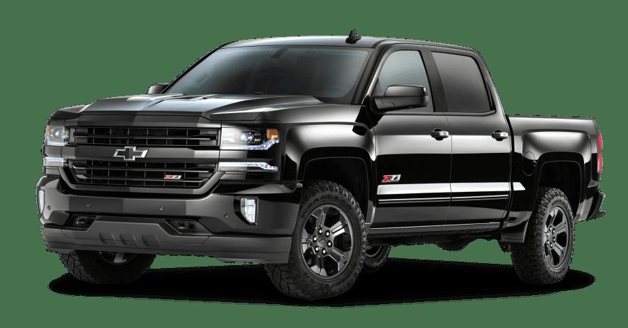 Black chev pickup truck