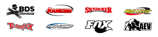logos for popular lift kit brands