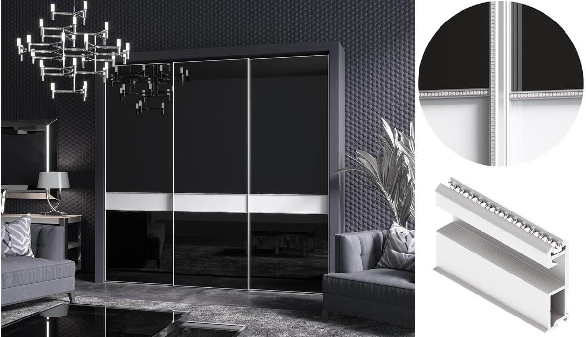 Изготовление, ремонт, модернизация торговой и корпусной мебели в Москве - Раздвижная система Slim Line Aristo