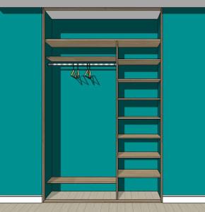 Для 2-х и 3-х дверных шкафов-купе глубиной до 600 мм