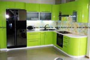Изготовление, ремонт, модернизация торговой и корпусной мебели в Москве - Кухня на заказ (МДФ) Зелёный