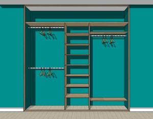 Для 3-х и 4-х дверных шкафов-купе глубиной до 600 мм