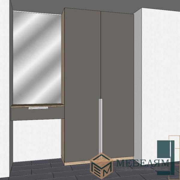 Шкаф Монако Оникс 3 + столик с зеркалом.2