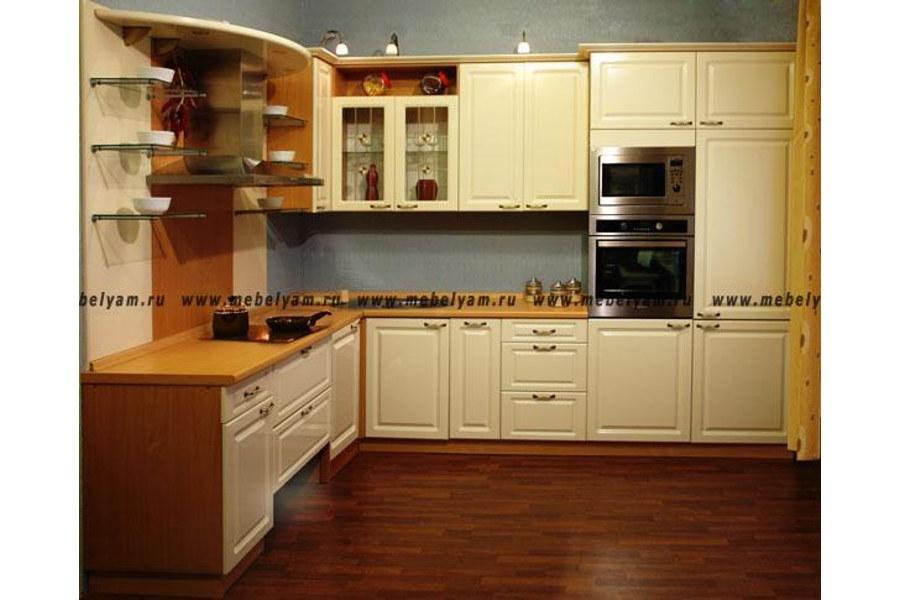 Изготовление, ремонт, модернизация торговой и корпусной мебели в Москве - Кухня на заказ (МДФ) Слоновая кость