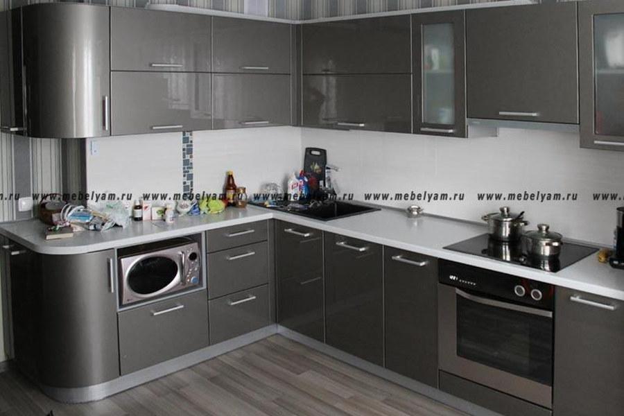 Изготовление, ремонт, модернизация торговой и корпусной мебели в Москве - Кухня на заказ (МДФ) Серый