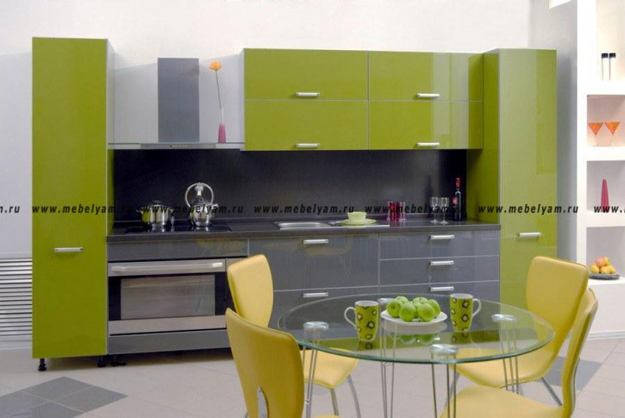 Изготовление, ремонт, модернизация торговой и корпусной мебели в Москве - Кухня на заказ (МДФ) Оливковый
