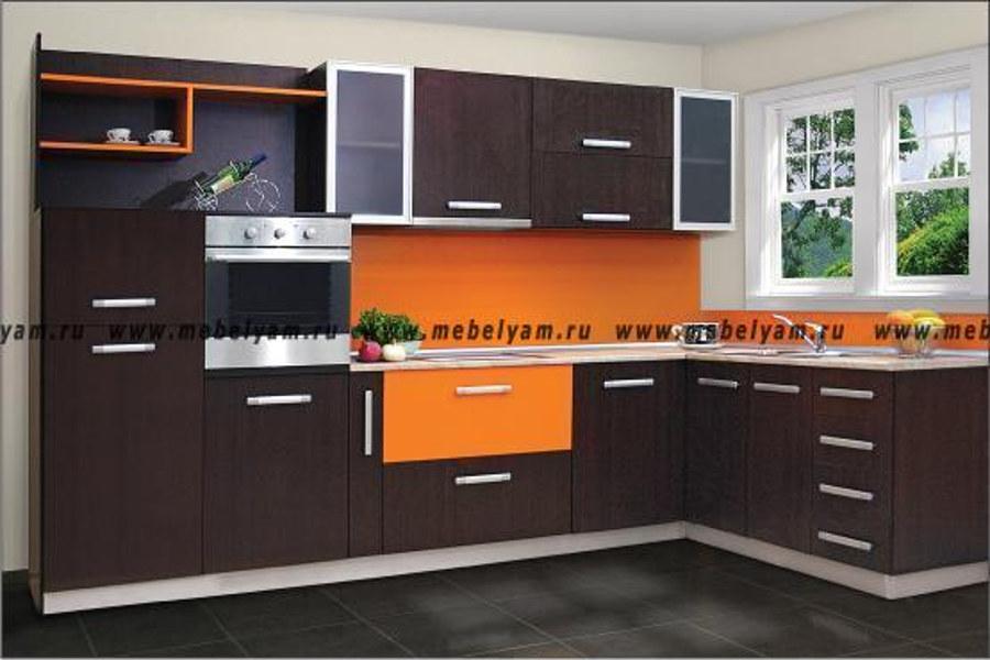 Изготовление, ремонт, модернизация торговой и корпусной мебели в Москве - Кухня на заказ (МДФ) Коричневый
