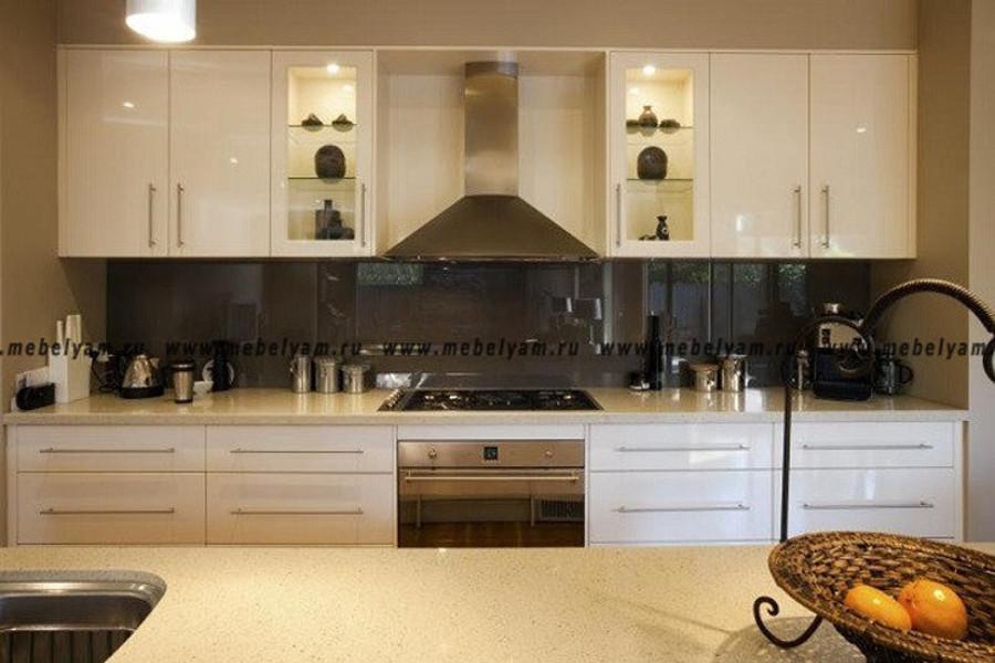 Изготовление, ремонт, модернизация торговой и корпусной мебели в Москве - Кухня на заказ (МДФ) Бежевый