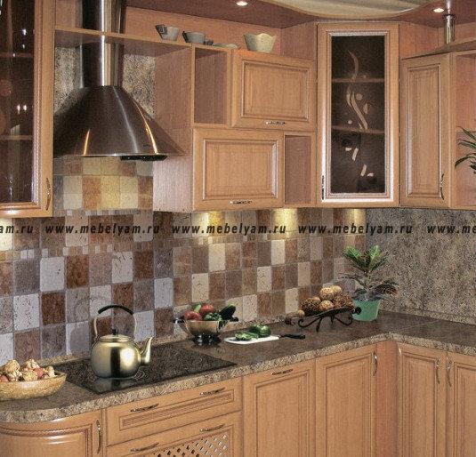 Изготовление, ремонт, модернизация торговой и корпусной мебели в Москве - Кухня на заказ ( под дерево) Турин №1