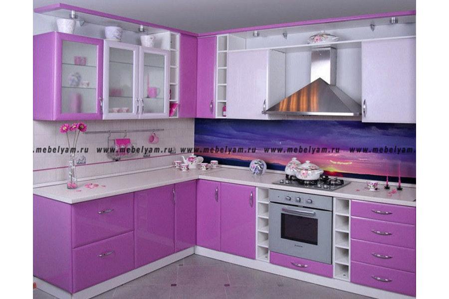Изготовление, ремонт, модернизация торговой и корпусной мебели в Москве - Кухня на заказ (МДФ) Сиреневый
