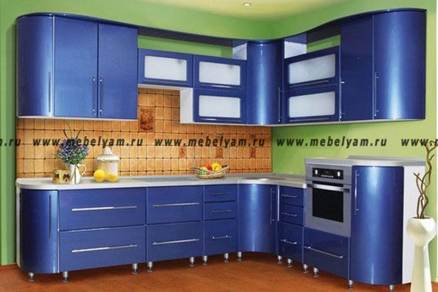 Изготовление, ремонт, модернизация торговой и корпусной мебели в Москве - Кухня на заказ (МДФ) Синий
