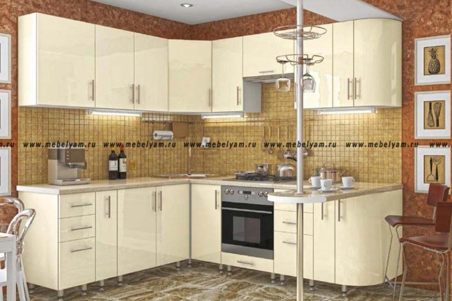Изготовление, ремонт, модернизация торговой и корпусной мебели в Москве - Кухня на заказ (МДФ) Ваниль