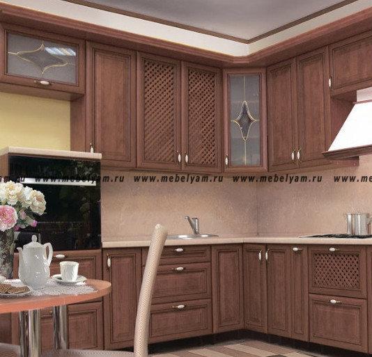 Изготовление, ремонт, модернизация торговой и корпусной мебели в Москве - Кухня на заказ ( под дерево) Турин №4