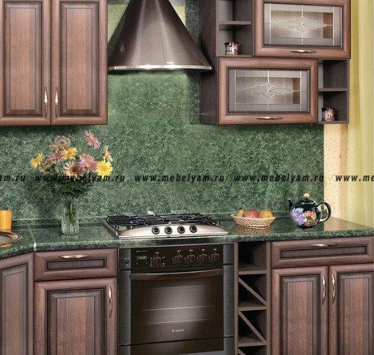 Изготовление, ремонт, модернизация торговой и корпусной мебели в Москве - Кухня на заказ ( под дерево) Турин №6