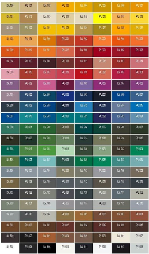 emalsОбразцы фасадов из эмали, варианты цветов по RAL-раскладке-01