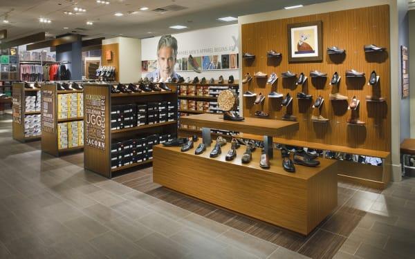 Торговая мебель для обувных магазинов