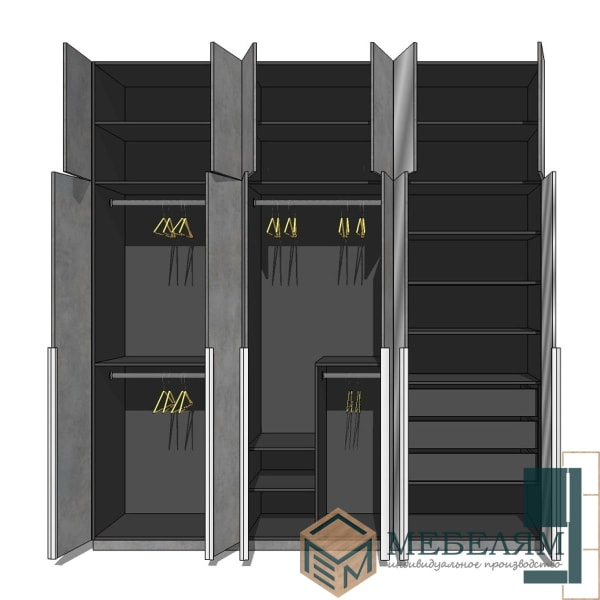 Шкаф гардеробный Чикаго 1