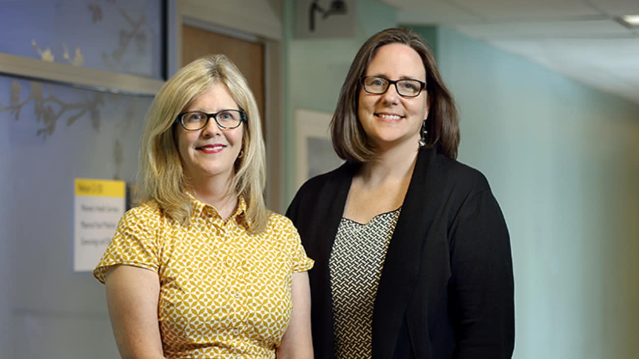 Center Director Jennifer Payne, left, and Assistant Director Lauren Osborne lead efforts to improve the quality of life for women with mood disorders.