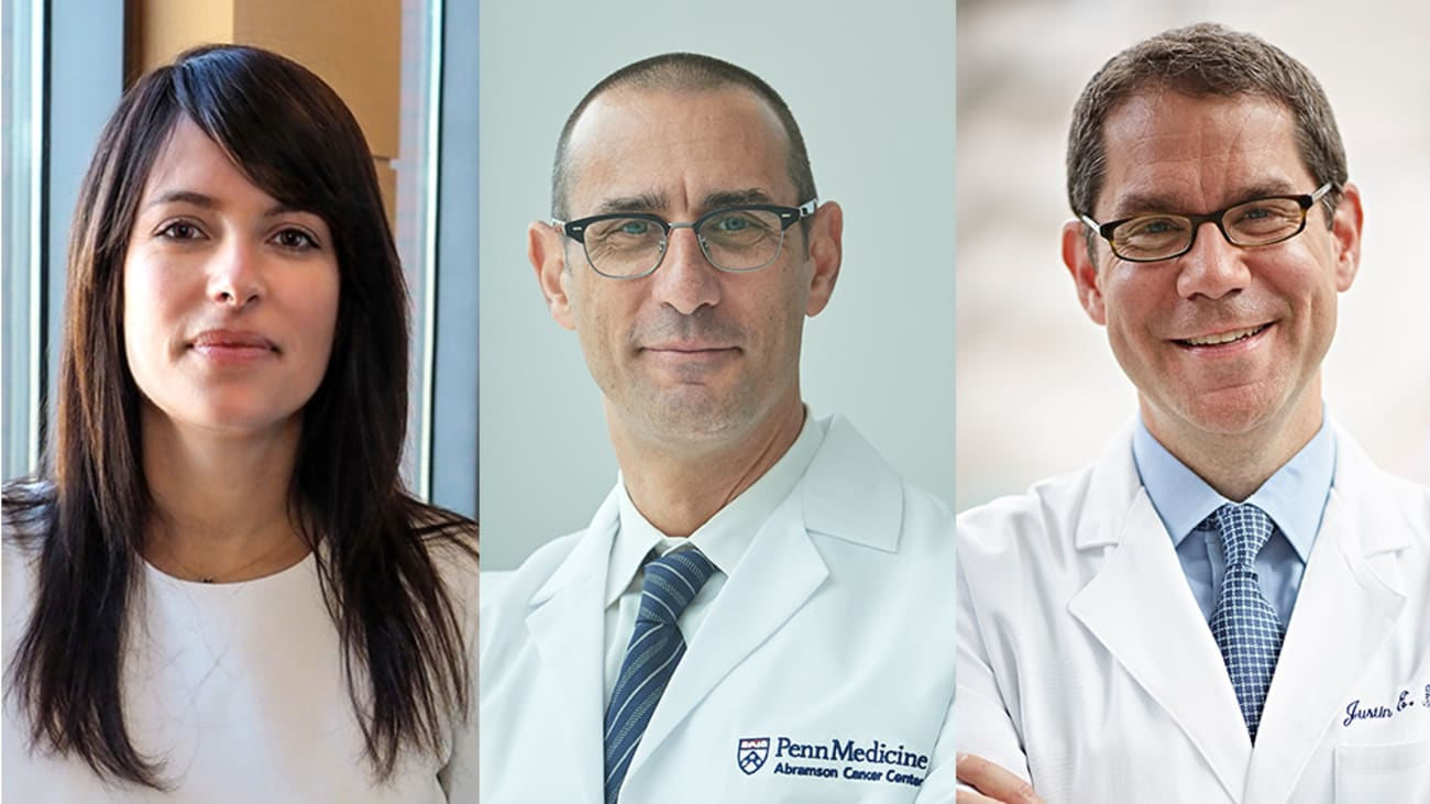 From Left to Right: Rinad Beidas, PhD, Robert A. Schnoll, PhD, and Justin E. Bekelman, MD