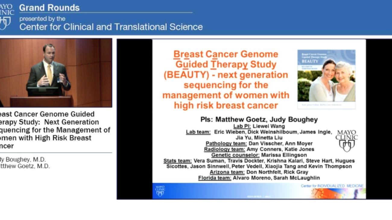 Grand Rounds: Breast Cancer Genome Guided Therapy Study:  next generation sequencing for the management of women with high risk breast cancer