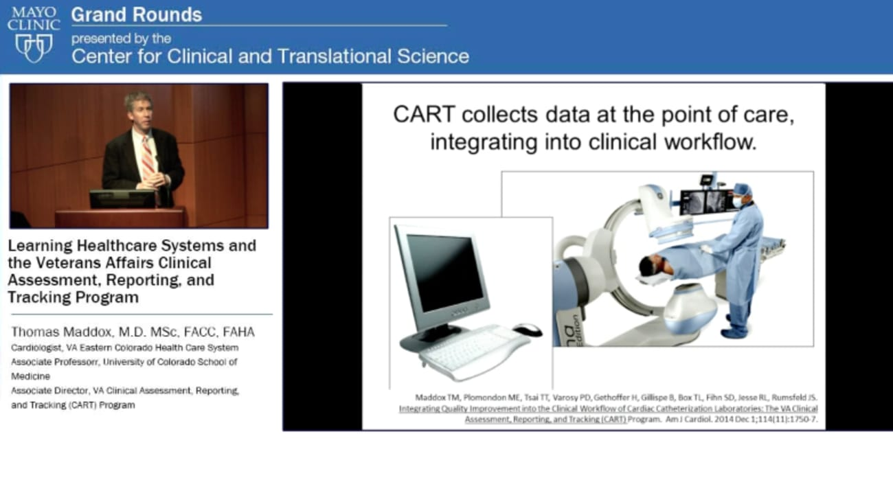 Grand Rounds: Learning Healthcare Systems and the Veterans Affairs Clinical  Assessment, Reporting and Tracking Program